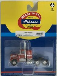 Athearn Ho Kw Kenworth Owner-operator Truck Tractor Red/white Stps 1/87 Ath92654