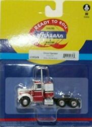Athearn Ho Kw Kenworth Owner-operator Truck Tractor White/red/blk 1/87 Ath92658