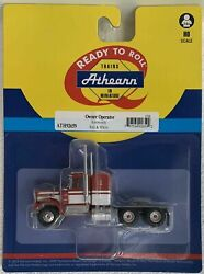 Athearn Ho Kw Kenworth Owner-operator Truck Tractor White/red 1/87 Ath92659