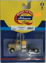 Athearn Ho Kw Kenworth Owner-operator Truck Tractor Yellow/white 1/87 Ath92657