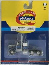 Athearn Ho Kw Kenworth Owner-operator Truck Tractor Met Blue/white 1/87 Ath92655