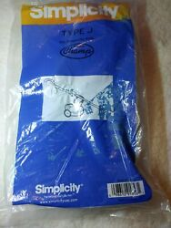 SIMPLICITY TYPE J BAGS. 6 pack. Fits the Simplicity S12L canister. $9.99
