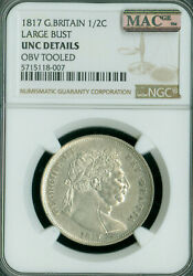 1817 Great Britain Large Bust George Iii Ngc Ms-60 Mac Spotless Rare And Nice