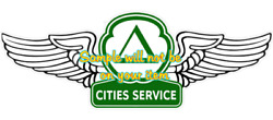 Cities Service Gasoline Wings Contour Cut Vinyl Decals Sign Stickers Gas