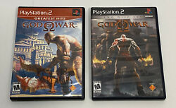 God Of War I And Ii 1 And 2 Sony Playstation 2 Ps2 Complete Game Bundle Lot