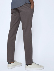New Ted Baker Charcoal Procor Slim Fit Chino Trousers Pants Size 36l 36 / 34
