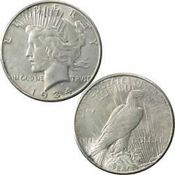 1934 S Peace Dollar Au/bu About Uncirculated / Uncirculated 90 Silver 1 Coin