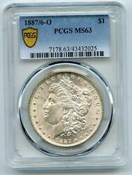 1887/6-o Morgan Silver Dollar Pcgs Ms63 Certified - New Orleans Mint Br57