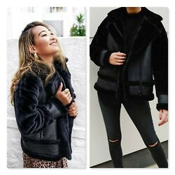 Seed Heritage Womens Size 12 Shearling Bomber Jacket