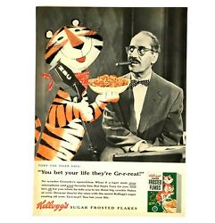 1955 Kelloggs Frosted Flakes Advertisement Groucho Marx Tony Tiger Vtg Print Ad