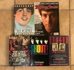 Lot Of 4 Collectible Beatles Books Plus 1 Magazine - The Lost Lennon Tapes