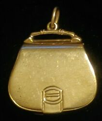 Antique Vintage Hidden Dollar / Dime Coin Purse Charm In 14kt Yellow Gold🔥 3-d