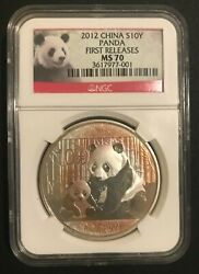 2012 China S10y Panda Silver Coin. First Releases. Toning On Coin See Picture