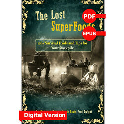 The Lost Superfoods by Fred Dwight Art Rude $6.99