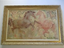 Vintage Horse Painting Impressionist Painting Expressionist Modernism Listed