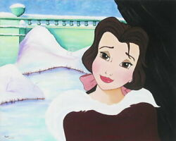 Disney Paintings Beauty And The Beast/bells Inn Love Limited To 295 Copies