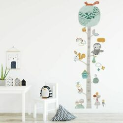Animal Trees Height Measure Wall Sticker DIY Forest for Wall Nursery Decals
