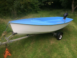 Fully Refurbished Dinghy / Trailer And Outboard Ready To Go Family / Fishing Boat