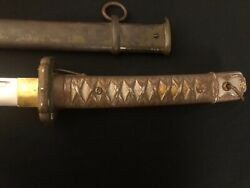 Japanese Army Nco Sword -army Officer -matching/antique/old Ww2 -samurai