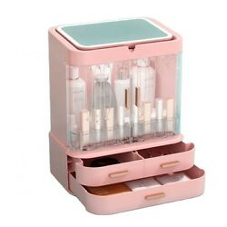 Portable Makeup Jewelry Storage Case Rechargeable Mirror Cosmetic Organizer $38.60