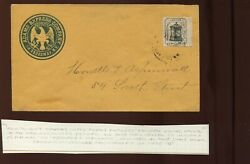 87l6 Husseyand039s Post New York Local On Reference Adams Express Cover Cv 280