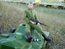 Gi Joe Vintage Irwin Scout Car With Action Soldier