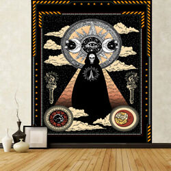 Wizard Skull Tapestry Solar Iris Tapestry Sun and Moon Wall Hanging Home Decor