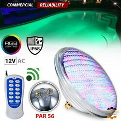 Par56 54w 12v Color-changing Rgb Led Above Ground Swimming Pool Light Underwater
