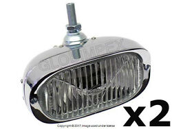 Porsche 911 912 1956-1968 Fog Light H3 With Clear Lens Front Left And Right