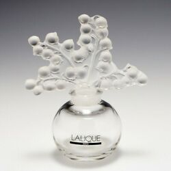 New Boxed Lalique Clear/frosted Crystal Clairefontaine Perfume Bottle