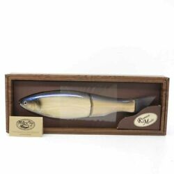Used Fishing Gear Lure Romanmade Mother Chaser Wood Blue Fishing Lure A8715