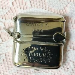 1900 George Unite Solid Silver Double Sovereign 1 And 1/2, Vesta And Cigar Cutter