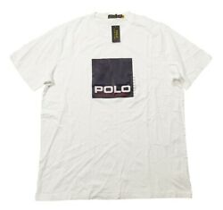 Polo Big And Tall Menand039s White Box Logo Graphic Short Sleeve T-shirt