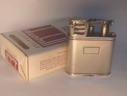 Dunhill Sports Oil Lighter Solid Silver 1949 Antique Engraved 288806