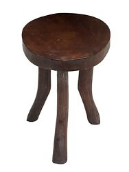 African Old Carved Wood Milk Stool Hehe Gogo People Tanzania 13.75 H