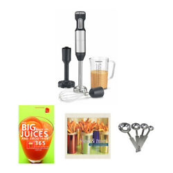 Cuisinart Hurricane Hand Blender Set With Measuring Spoon And Recipe Books