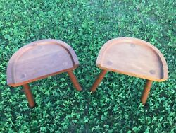 Bartley Collection Furniture Half Stool Milking Stool Pair Of Two