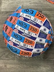 New 10/3 250. Southwire Nm-b 10/3 Copper Wire Cable Romex Simpull W/g Qik Ship