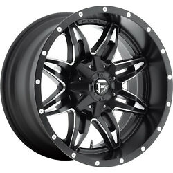 4- 20x10 Black Fuel Lethal D567 6x135 And 6x5.5 -24 Wheels 285/55r20 Tires