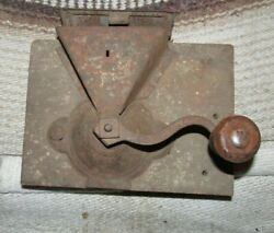 Vintage Antique Coffee Grinder Wall Type Used Kitchen