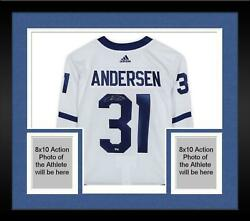 Frmd Frederik Andersen Toronto Maple Leafs Signed White Adidas Authentic Jersey