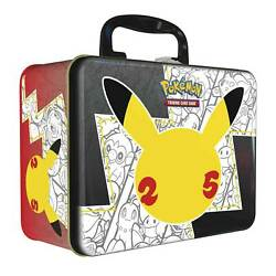 Ships Same Day 🚀 Pokandeacutemon Tcg Celebrations Collector Chest Lunch Box