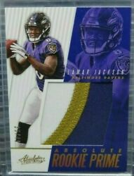 💎2018 Absolutelamar Jacksonrookie Prime Jersey Patch Rc And039d/49 Baltimore💎