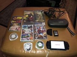 Sony Playstation Portable Psp 1001 Handheld Console With 7 Games