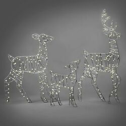 Deer Family 36in Christmas Led Light Up Outdoor Yard Sculptures Holiday Decor