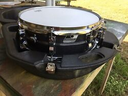 Ludwig Black Galaxie Snare Drum With Case