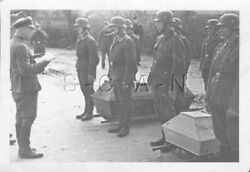 Org Wwii German Luftwaffe Army Large Real Photo- Cemetery- Coffin- Burial Detail