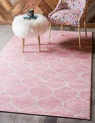 Unique Loom Trellis Frieze Collection Area Rug-modern Morroccan Inspired Geom...