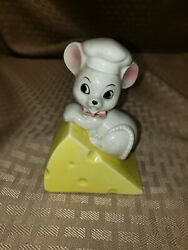 Vintage Lefton Mouse And Cheese Salt amp; Pepper Shakers Anthropomorphic
