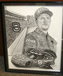 Dale Earnhardt Jr Nascar Original Painting Robert Stephen Simon